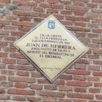 placa,juan de herrera,iglesia san nicolas,mas antigua de Madrid