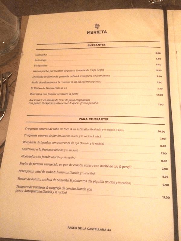 Restaurante marieta madrid especial para j venes y bar de - La marieta madrid ...